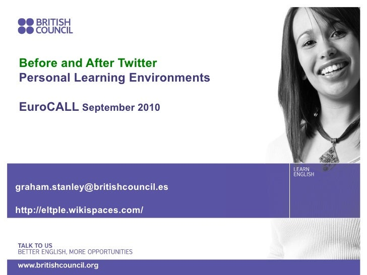 <ul>Before and After Twitter Personal Learning Environments EuroCALL  September 2010 </ul><ul>[email_address] http://eltpl...