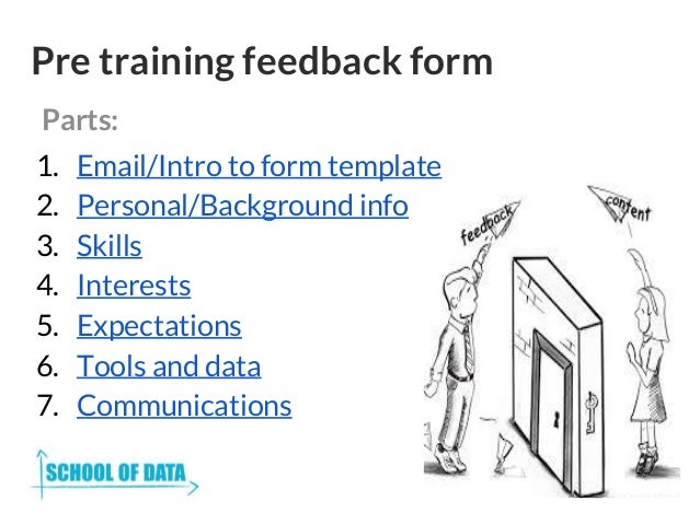 Skillshare getting feedback from training events – Training Feedback Template