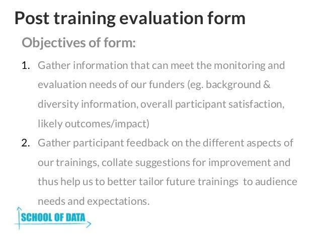 training evaluation template