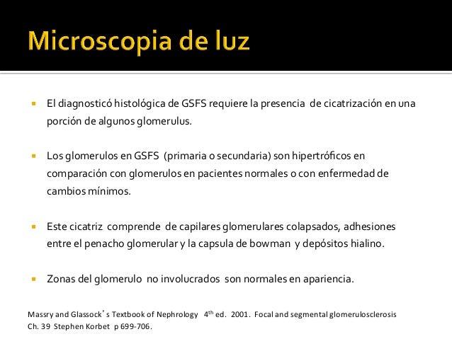 ¡ El  diagnosticó  histológica  de  GSFS  requiere  la  presencia    de  cicatrización  en  una...