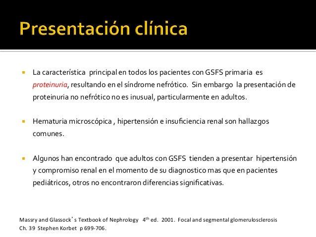 ¡ La  característica    principal  en  todos  los  pacientes  con  GSFS  primaria    es   prot...