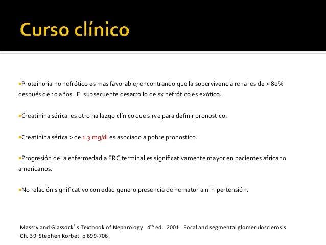 ¡Proteinuria  no  nefrótico  es  mas  favorable;  encontrando  que  la  supervivencia  renal ...