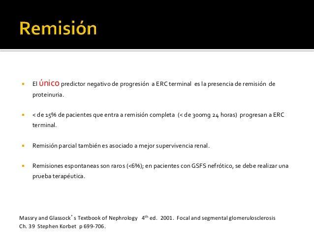 ¡ El  único  predictor  negativo  de  progresión    a  ERC  terminal    es  la  presencia  d...