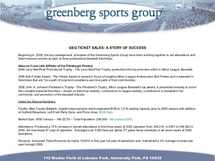 gsg ticket sales resume