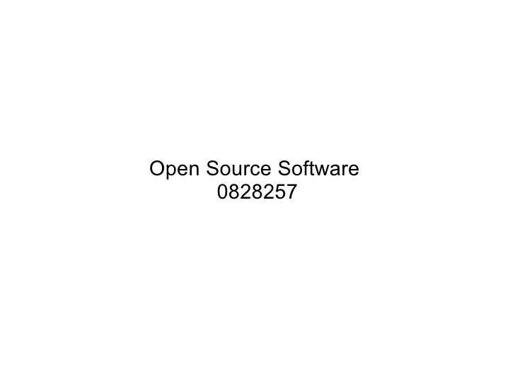 Open Source Software  0828257