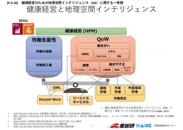 • QoW (Quality of Working): 産業競争⼒懇談会(COCN)の2016年度の事業提⾔の1つ • QWL (Quality of Working Life): 欧⽶で1960年代後半から注⽬され、70年代に国際労働機関(I...