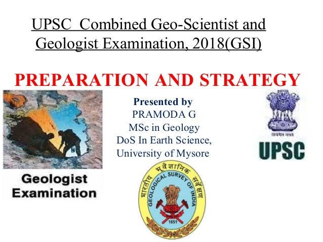 GSI exam preparation - 2018