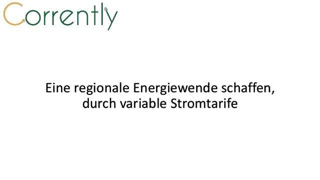 Eine regionale Energiewende schaffen, durch variable Stromtarife