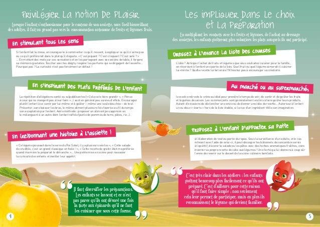Faire aimer les fruits et légumes frais aux enfants Slide 3