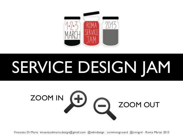 SERVICE DESIGN JAM          ZOOM IN                                                                   ZOOM OUTVincenzo Di ...