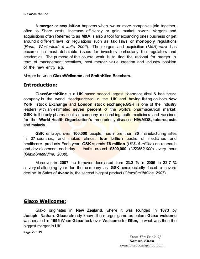 The Headaches of GlaxoWellcome Case Study Analysis