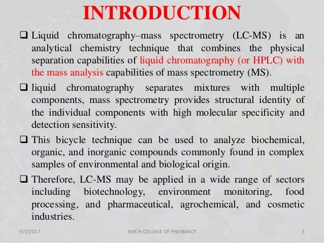 liquid chromatography mass spectroscopy pdf