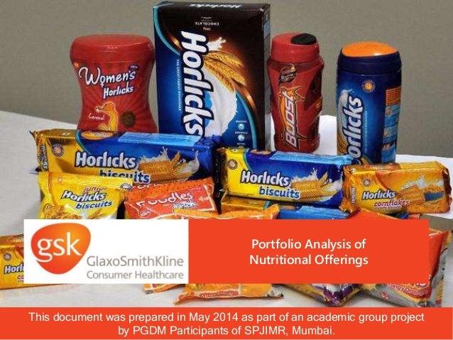 gsk glaxosmithkline consumer healthcare portfolio analysis nutritional slideshare