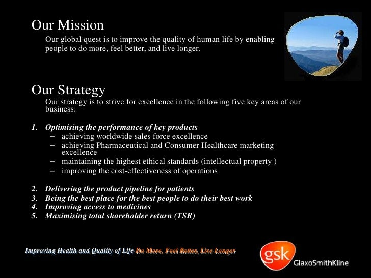 Glaxosmithkline marketing strategy