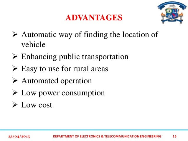 advantages of vehicle monitoring system pdf