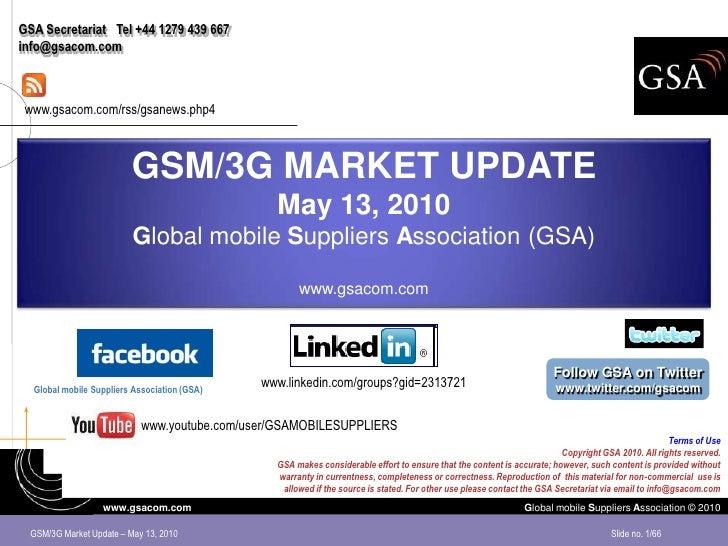 GSA Secretariat Tel +44 1279 439 667 info@gsacom.com     www.gsacom.com/rss/gsanews.php4                             GSM/3...