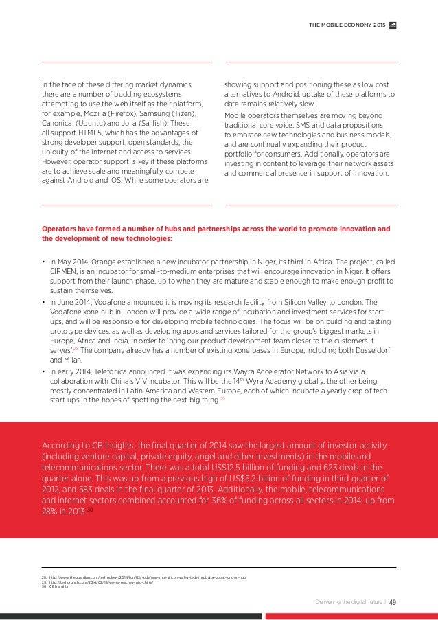 Gsma global mobile economy report 2015