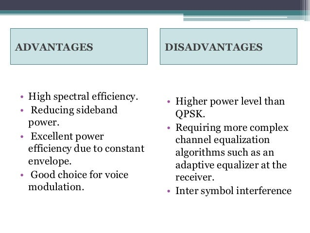 advantages and disadvantages of space channels