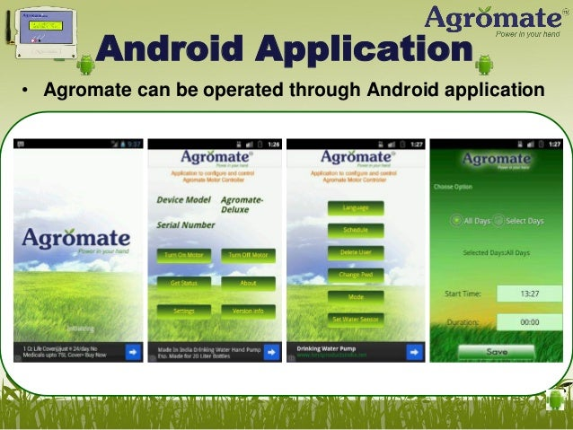 Controlling Multiple Motors • Agromate Deluxe or Plus can control any single motor pump • Agromate Multi can control up-to...