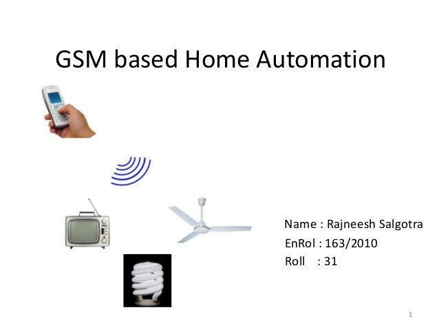 Home automation project using gsm