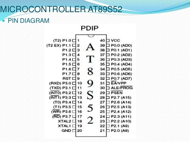 Smart led notice board microcontroller at89s52 pin diagram ccuart Image collections