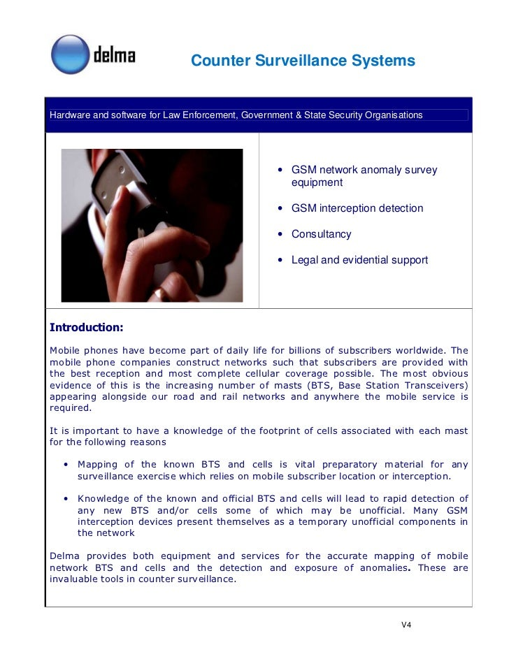 Counter Surveillance Systems   Hardware and software for Law Enforcement, Government & State Security Organisations       ...