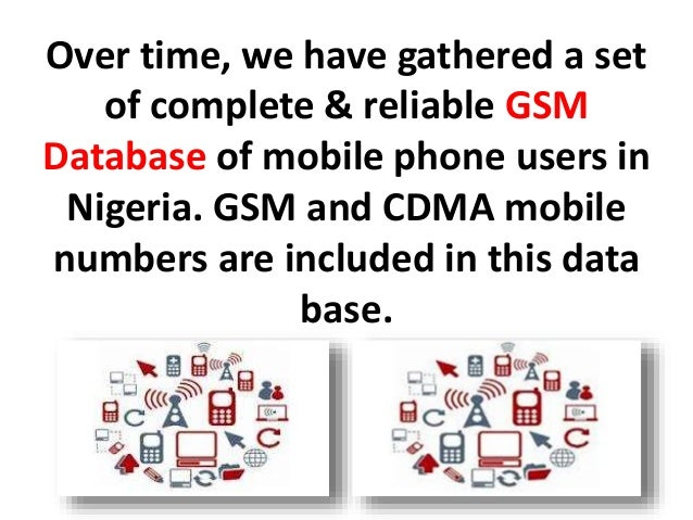 Gsm database, phone numbers database