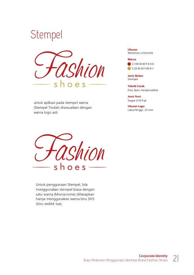 Materi Promosi Corporate Identity Buku Pedoman Penggunaan Identitas Brand Fashion Shoes 23