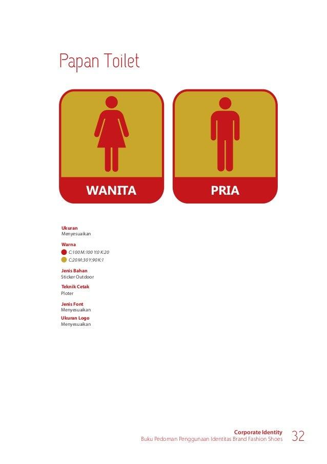 Corporate Identity Buku Pedoman Penggunaan Identitas Brand Fashion Shoes 34 KASIR Ukuran Warna Menyesuaikan Jenis Bahan St...