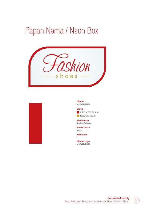 Fasilitas Perusahaan Corporate Identity Buku Pedoman Penggunaan Identitas Brand Fashion Shoes 35