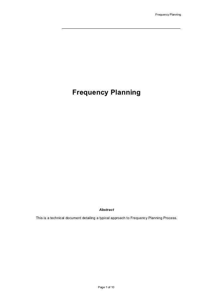 Frequency Planning                           Frequency Planning                                            Abstract  This ...