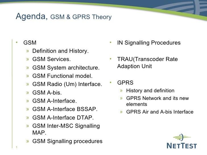 Agenda,  GSM & GPRS Theory <ul><li>GSM </li></ul><ul><ul><li>Definition and History. </li></ul></ul><ul><ul><li>GSM Servic...