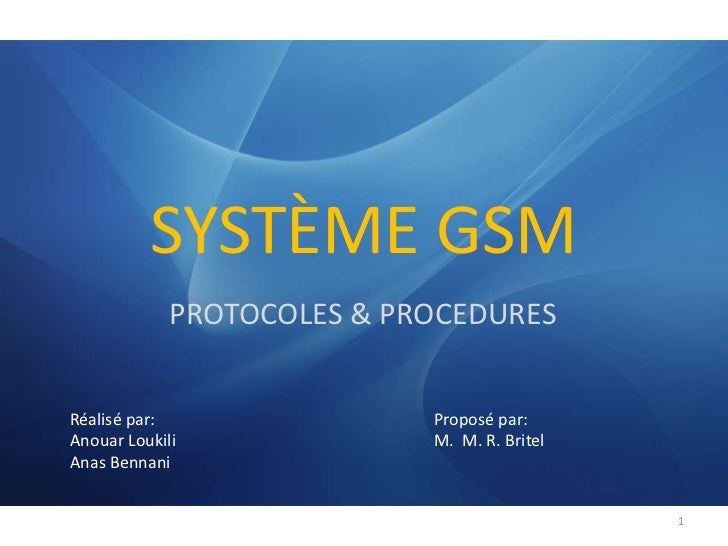 Gsm   Protocoles & ProcéDures