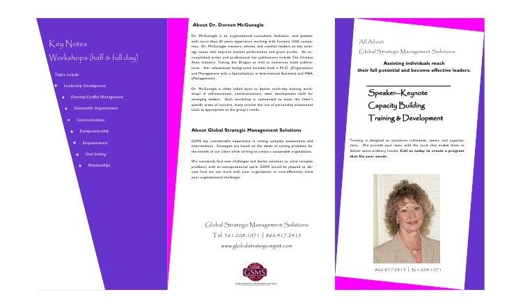 About Dr. Doreen McGunagle                                            Dr. McGunagle is an organizational consultant, facil...