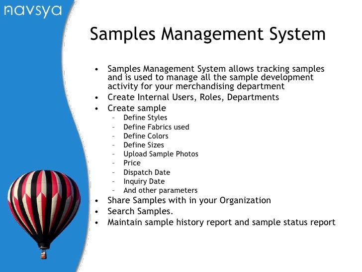 Samples Management System – Sample Management