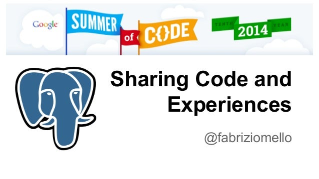 Sharing Code and  Experiences  @fabriziomello