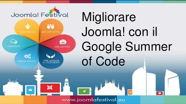 Migliorare Joomla! con il Google Summer of Code