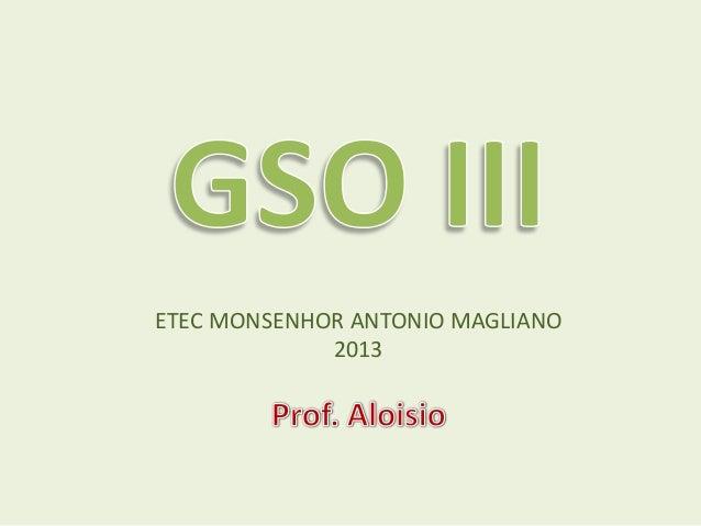 ETEC MONSENHOR ANTONIO MAGLIANO2013