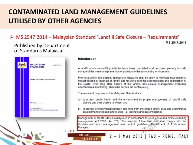 Contaminated Land Management In Malaysia Policies And Legal Framework