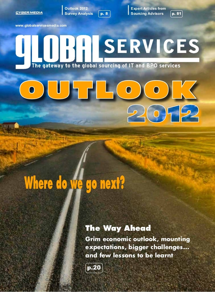 Outlook 2012             Expert Articles from                          Survey Analysis   p. 8   Sourcing Advisors      p. ...