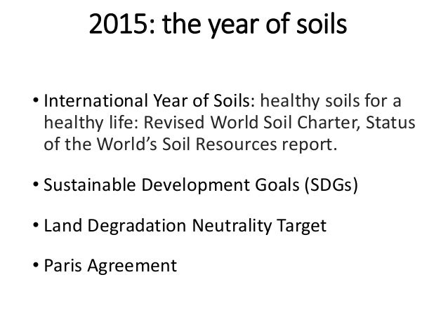 The global soil partnership overview for Soil resources definition