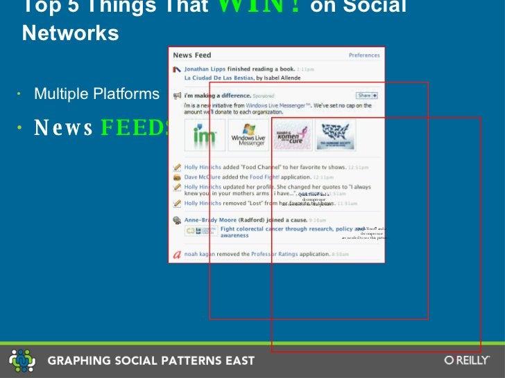 Top 5 Things That  WIN!  on Social Networks <ul><li>Multiple Platforms </li></ul><ul><li>News   FEEDS. </li></ul>
