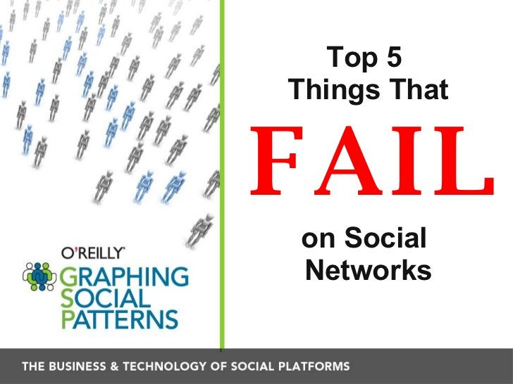 Top 5  Things That   FAIL on Social  Networks