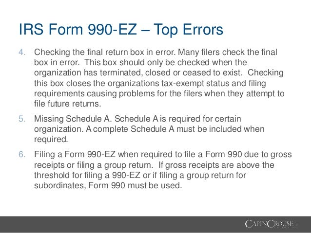 Demystifying the Form 990: Tips, Tricks, and Traps of the Form 990