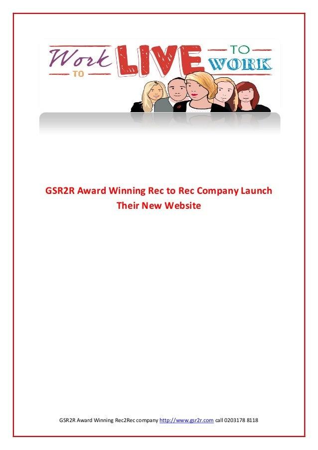 GSR2R Award Winning Rec2Rec company http://www.gsr2r.com call 0203178 8118GSR2R Award Winning Rec to Rec Company LaunchThe...