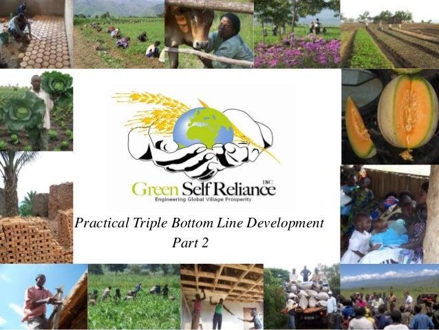 Practical Triple Bottom Line Development                 Part 2