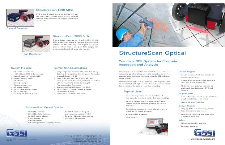 Gssi Structure Scan Optical Brochure