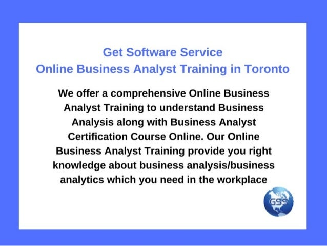 Get Software Service-Online Business Analyst Training in Toronto