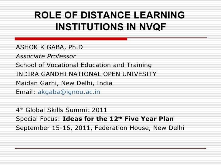 <ul><li>ASHOK K GABA, Ph.D </li></ul><ul><li>Associate Professor </li></ul><ul><li>School of Vocational Education and Trai...