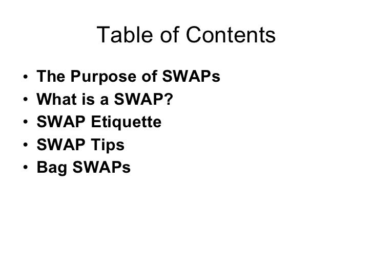 GS SWAP Guide Bag SWAPS Slide 2